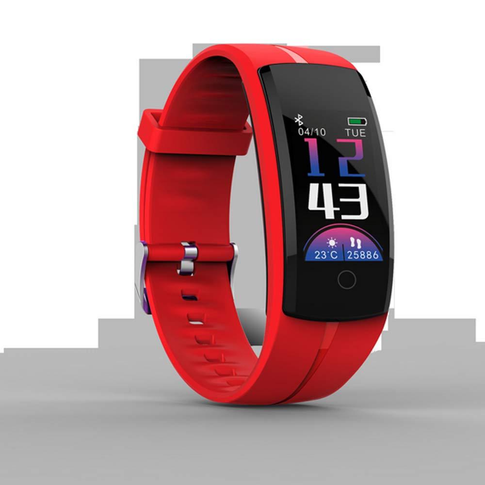 LGF Helmet Podómetro Pulsera Inteligente presión Arterial Ritmo cardíaco sueño Monitor Fitness Tracker Ejercicio al Aire Libre Running Masculino Mujer Adulto Banda Inteligente,Red