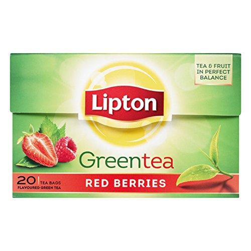Lipton Green Tea - Red berries - Premium Tea Bags (20 Cou...