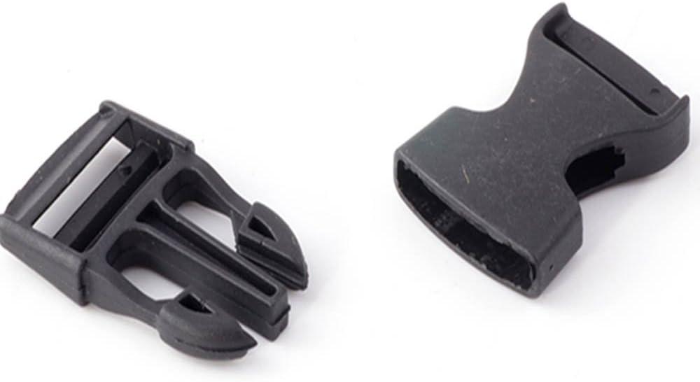 Snap Buckle 50 Black Plastic for Bags Backpacks Packs Helmets 1pz