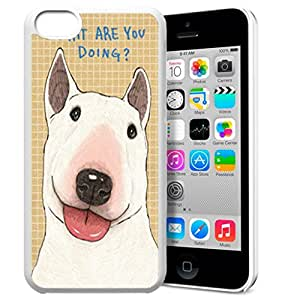 FUNNY DIY Interesting Design Abstract Animal Totems of Dog Pattern HD Durable Hard Plastic Case Cover for Apple iphone 5c