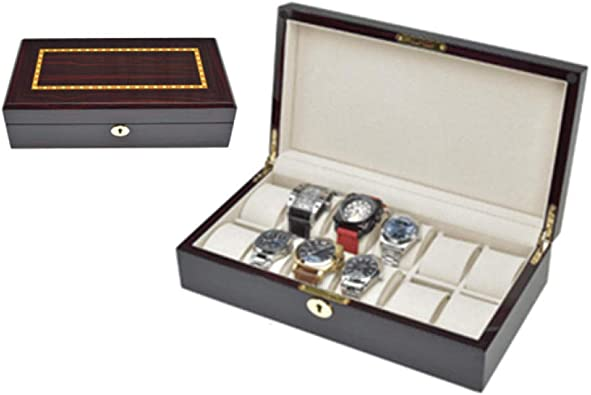 FIONAT Caja para Relojes Cajas para Joyas Regalo Viaje Hombre ...