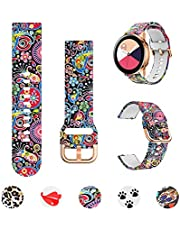 Minggo Band Compatible with Samsung Galaxy Watch 42mm/Active/Active2 40mm/44mm,Silicone Fadeless Pattern Printed Floral Replacement Strap Compatible Gear S2 Classic/Gear Sport Smart Watch (Jellyfish)