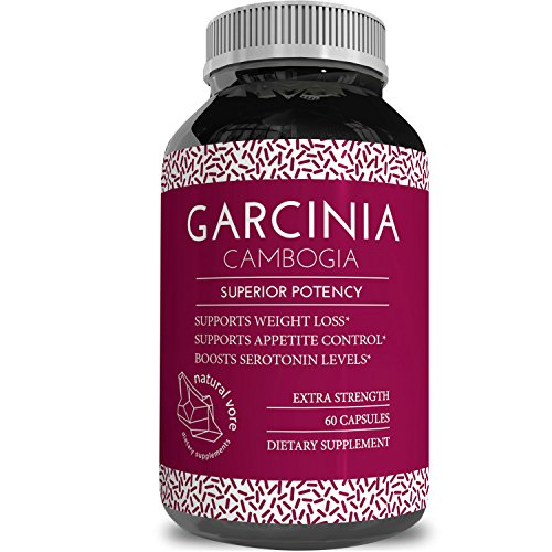 95% HCA Pure Garcinia Cambogia Extract Pills For Men and Women - Lose Weight Burn Belly Fat Improve Metabolism Appetite Suppressant Boost Energy 100% Pure All Natural Supplement by Natural Vore