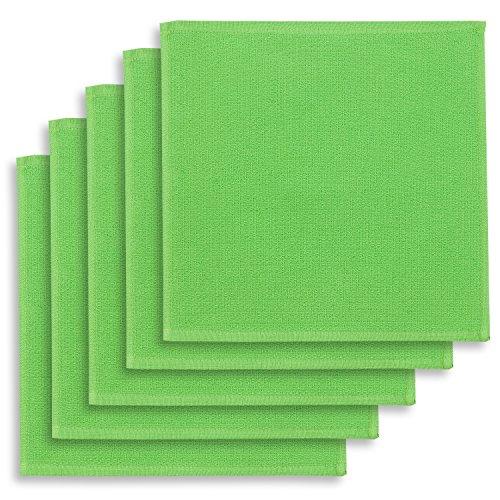 5er-Set Geschirrtuch, Spültuch, Multifunktion Baumwolle grün, KRACHT, Edition ziczac-affaires, ca.30x30cm