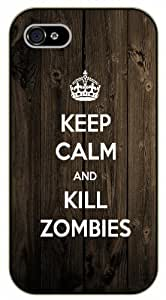 iPhone 6 Keep calm and kill zombies, grunge - black plastic case / Keep calm, dead, walking By SHURELOCK TM