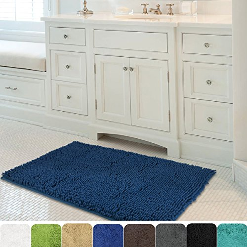 MAYSHINE Non-Slip Bathroom Rug Shag Shower Mat  Machine-Wash