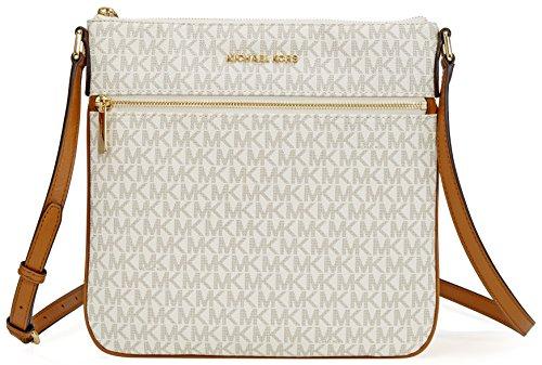 Michael Michael Kors Bedford Flat Crossbody, Vanilla: Handbags: Amazon.com