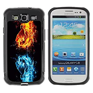 Hybrid Anti-Shock Defend Case for Samsung Galaxy S3 / Cool Fire VS Water Fist