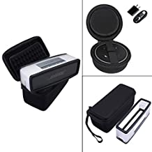 For Amazon Echo Dot / All-New Echo Dot 2 (2nd Generation) Bose Soundlink Mini I and Mini II Bluetooth Speaker Hard Carrying Case Travel Bag Pouch Box -Extra Room for USB Cable and Wall Charger