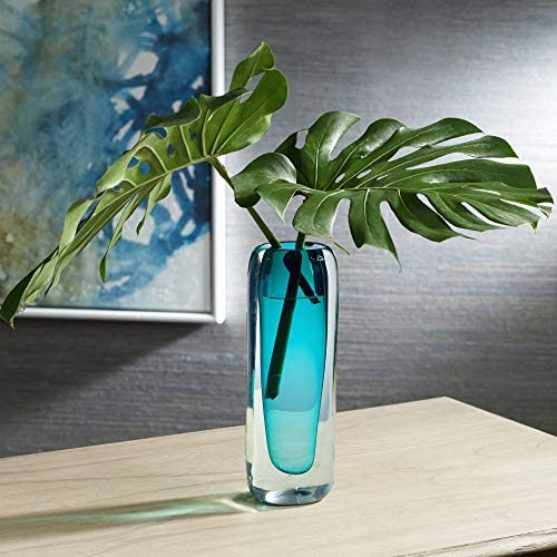 Dahlia Studios Tia 13 High Dark Teal Modern Glass Vase