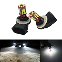 FEZZ LED Fog Light Bulbs Super Bright 881 57SMD White for Auto Car DRL Lamps White (Pack of 2)