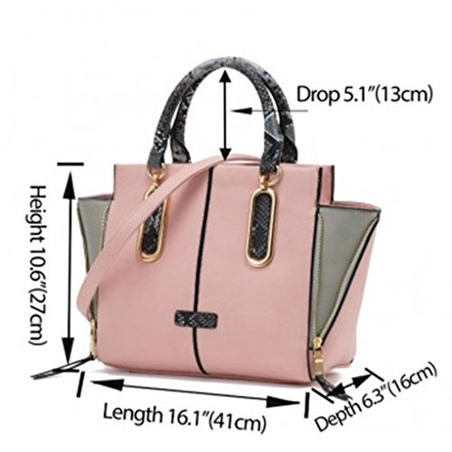 314 Mix Leahward Shoulder Women's 502 White Tote Nice Zipper Bags 314a Handbags Bag Color Great 8Rcw8q7r