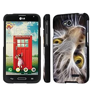 NakedShield LG Optimus Exceed 2 (Cat Face) Total Hard Armor LifeStyle Phone Case