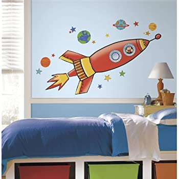 RoomMates RMK2619GM Rocket Peel and Stick Giant Wall Decals. Amazon com  RoomMates RMK2619GM Rocket Peel and Stick Giant Wall
