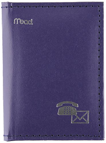 Mead Telephone Address Book, Mini, 4 x 3-Inches, Vinyl, Assorted (Color Selected May Vary) (Purse Pocket Book)