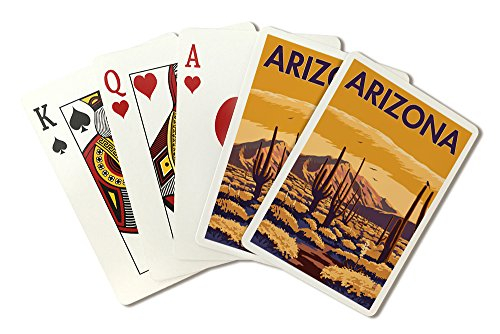 (Arizona - Desert Scene with Cactus (Playing Card Deck - 52 Card Poker Size with)