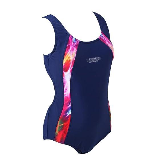 14-15 Years Designer Speedo Girl/'s Blue Racer Back One-Piece Swimsuit Monokini