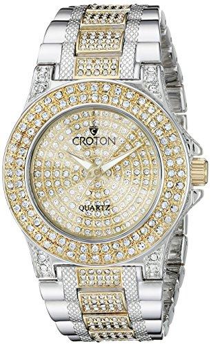 CROTON Women's CN207538TTPV Balliamo Analog Display Quartz Two Tone Watch Croton Quartz Bracelet