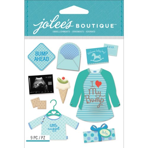 Jolee's Boutique Dimensional Stickers, Baby Boy Pregnancy (50-21615)
