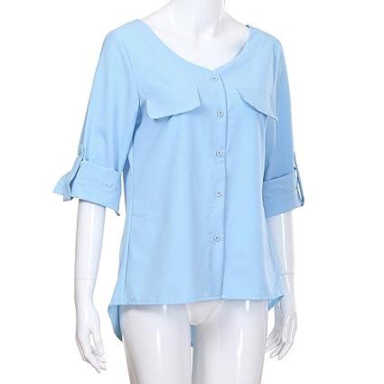 Camisas para Mujer otoño, Covermason Blusa de Manga Larga Casual con Botones: Amazon.es: Ropa y accesorios