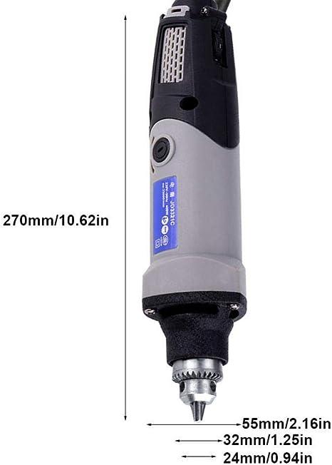 Raguso Meuleuse /électrique 400W perceuse /électrique meuleuse Droite 6 Positions Outil Rotatif /électrique /à Vitesse Variable 220V