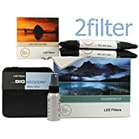 Lee Filters 82mm Landscape Essentials Kit 1 - FK Holder, 82mm Wide Angle Adapter Ring, 4x6 Grad ND 0.6 SE, 4x6 Grad ND 0.9 SE and 4x4 Big Stopper with 2filter cleaning kit