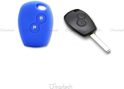 Auto Schlüssel Funk Fernbedienung Cover Hülle Grün RENAULT CLIO TWINGO