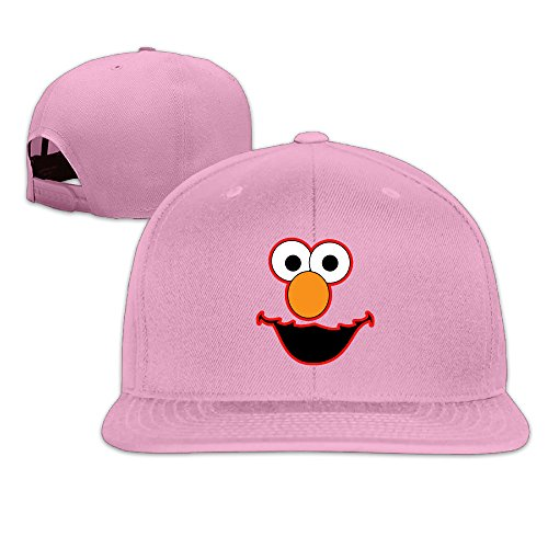 Elmo Face Fitted Flat Brim Baseball Hat