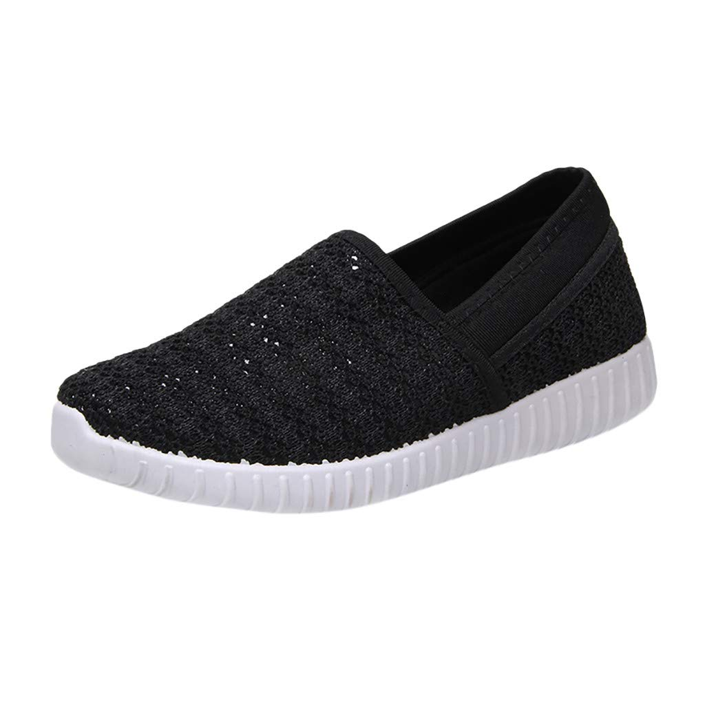 SSYongxia❤ Women's Slip-On Sneaker - Outdoor Sport Shoes Classic Light Sneakers Casual Walking Shoes for Women Black by SSYongxia