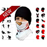Snowman Tubular Half Face Mask Neck warmer Unisex Costume Scarf 2 Pack