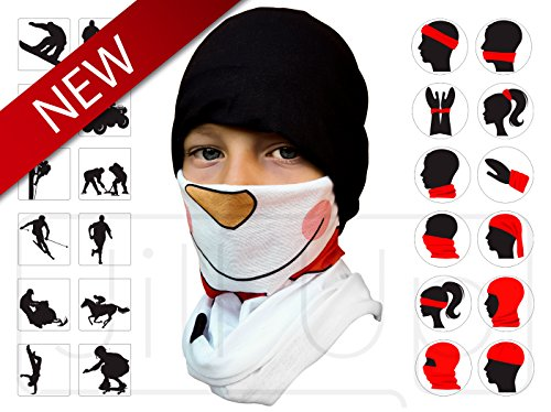 12-in-1 Headband-Versatile Lightweight Sports & Casual Headwear - Bandana, Neck Gaiter, Balaclava, Helmet Liner, Mask. Constructed with UV protection and High Performance Moisture Wicking Microfiber