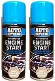 2x ENGINE START SPRAY CAN CAR VAN TRUCK PETROL & DIESEL EASY START 200ML