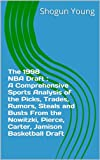 Carter or Pierce?  Bibby or Williams?  Olowokandi or bust?  The 1998 NBA Draft : A Comprehensive Sports Analysis of the Picks, Trades, Rumors, Steals and Busts From the Nowitzki, Pierce, Carter, Jamison Basketball Draft is the biggest, crazie...