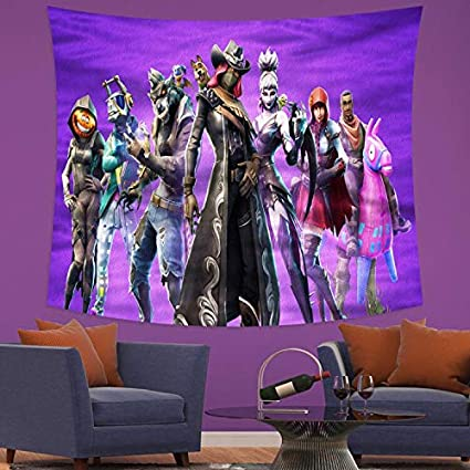 MEWE Fort/_nite Tapestry Game Tapestry Wall Hanging for Boys Bedroom Wall Decor 50X60in