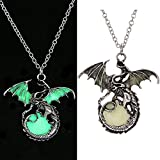 2017 Vintage Punk Glow In The Dark Dragon Pendant Necklace Fashion Jewelry Gifts