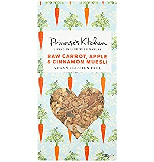 Primroses Kitchen Muesli de Avena Sin Gluten con Zanahoria - 400 gr [Pack de 2