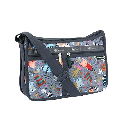 LeSportsac Donna Wilson Singing In The Woods Deluxe Everyday Bag + Cosmetic Bag by LeSportsac