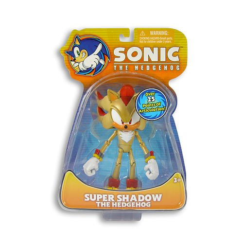 Sonic The Hedgehog Exclusive Action Figure Super Shadow The Hedgehog (Over 25 Points of Articulation!)
