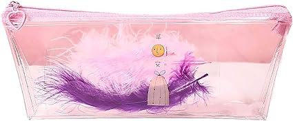 LAMEIDA. Estuche Escolar Pluma de Imitación Decorar Bolsa de lápiz con Cremallera Papeleria para Mujeres Estudiantes Oficina útiles Escolares: Amazon.es: Oficina y papelería