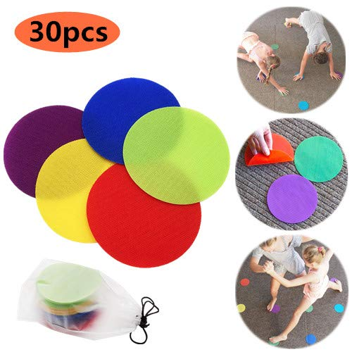 Colorful Dry Erase Circles,Classroom Magic Mark Its Sitting Carpet Spots to Educate,Removable Vinyl...
