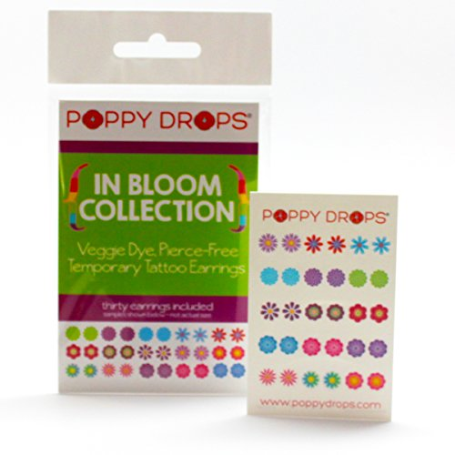 Price comparison product image In Bloom Collection - Veggie-Based Temporary Tattoo Earrings. Safe, Non-Toxic Ear Piercing Alternative.