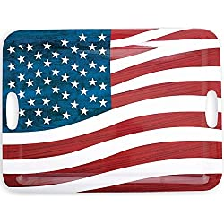 Amscan 4th of July Party Large Patriotic Serving Tray (1 Piece), Multi Color, 0.6 x 19.8