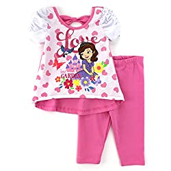 Sofia the First Toddler Top Leggings Pants Set (2T)