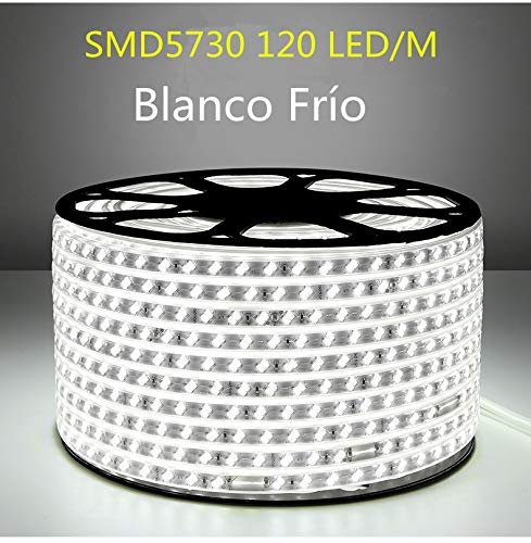 6 Metros Luz Fria 6000k Impermeable Ip65 Con Enchufe ONSSI