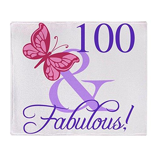 CafePress Fabulous 100Th Birthday Soft Fleece Throw Blanket,