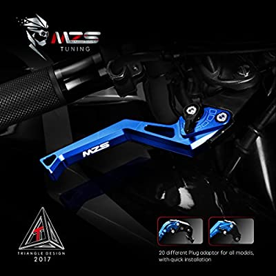 MZS Short Levers Brake Clutch Square Adjustment Blue Compatible with Suzuki GS500 GS500E GS500F GSF600 GSF600S Bandit 600