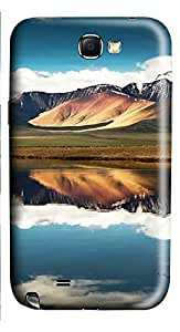 Samsung Note 2 Case Mountain And Lake 03 3D Custom Samsung Note 2 Case Cover