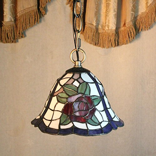 Chandelier 8-Inch simple rose tiffany pendant light ceiling porch lamp ()