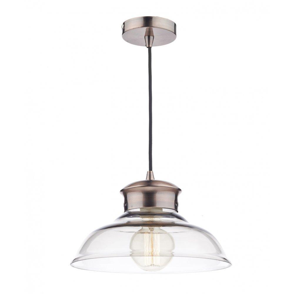siren 1 light copper and glass pendant light bulb not included
