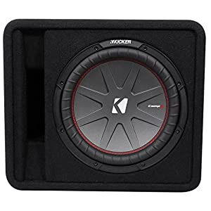 "Kicker 43VCWR122 COMP12 12"" 1000 Watt Subwoofer+Vented Sub Box+Mono Amp+Wire Kit"